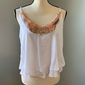 White flowy tank top from Charlotte Russe, NWT!